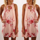 New Women's Summer Sleeveless Casual Floral Cocktail Evening Party Mini Dress