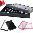 Fine 100 Ring Jewelry Display Tray Show Case Box Organiser Storage Holder New