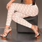 Neu sexy Stretch Lace Spitzenleggings Stretch Leggings Spitze Leggins Hose!96961