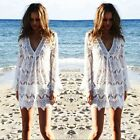 2016 Women Summer Swimsuit Lace Crochet Bikini Swimwear Cover Up Beach Dress Hot