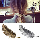 Vintage Feather Hair Clip Barrette Hairpin Bobby Pin Women Fashion Hair Jewelry