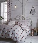 Catherine Lansfield Doily Hearts Duvet Quilt Cover Set, Single Double King Size