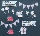 Birthday Die Cuts - Birthday, Parties, Card Making, Assorted Sets of 22 pieces