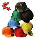 3 x Flat Peak Snapback / Snap Back Adjustable Baseball Caps / Hats