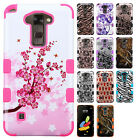 For LG G Stylo 2 IMPACT TUFF HYBRID Protector Case Skin Cover + Screen Guard