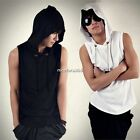 New Cool Men's Korean Beach Hooded Casual Hoodie Sleeveless Cap Tops T-shirt HOT