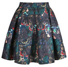 YUMI LADIES YOAS22 BUTTERFLY PRINT SKATER SKIRT MULTI RRP £55.00 ON SALE NOW