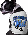 Big Brother Bodyguard Dog Shirt Doggy Announcement Clothing paw prints