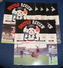 MANCHESTER UNITED HOME PROGRAMMES 1989-1990