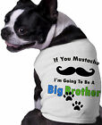 Mustache Big Brother Dog Shirt Personalized Doggy Clothing