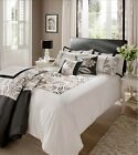 Luxury Shrewsbury Black Duvet Quilt Cover Set, Single Double King Super King