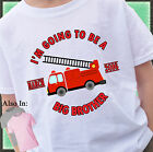 FIRETRUCK BIG BROTHER SHIRT PERSONALIZED SHIRT PERSONALIZED MONTH AND YEAR