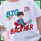 SUPERHERO BIG BROTHER SHIRT PERSONALIZED WITH NAME SUPER HERO CAPE