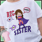 SUPERHERO BIG SISTER SHIRT PERSONALIZED WITH NAME SUPER HERO CAPE