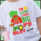 TRACTOR I'M GOING TO BE A BIG BROTHER SHIRT PERSONALIZED WITH NAME DATE