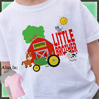 GREEN TRACTOR LITTLE BROTHER SHIRT PERSONALIZED WITH NAME DATE