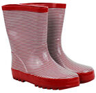 NEW French Red Stripe Design Kids Childrens Wellies Gumboots Size 5/6 11/12 Last