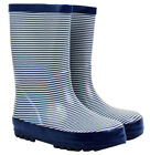 NEW French Blue Stripe Design Kids Childrens Wellies Gumboots Size 5/6 Last Ones