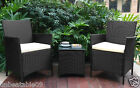 2 Chair Rattan Bistro Set and with Dining Table Garden Furniture Outdoor Weave