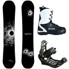 New 2016 System DNR Snowboard + APX Mens Bindings + APX Boots Package