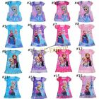NEW HOT Style Princess Girls Kids Short Sleeve Pyjama Nightie Top Shirt Dress Up