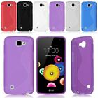 S Line Slim TPU Silicone Rubber Soft Gel Case Cover Back Skin For LG K4 / Spree