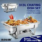 Multi Stainless Steel Bain Marie Chafing Dishes Buffet Food Warmer Pan Heater