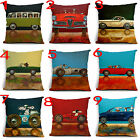 Drive dog Cotton linen Throw Decorative Cushion Cover Square Pillow Cases Home
