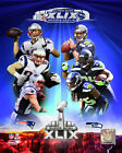 Super Bowl XLIX Seattle Seahawks New England Patriots Photo RQ242 (Select Size)