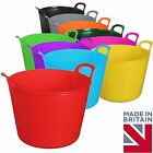 42 Litre Large Flexi Tub Flexible Colour Storage Container Bucket New MADE IN UK