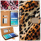 For Samsung Galaxy Express 3 Crocodile Leopard Leather Wallet Case Flip Cover
