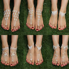 Bridal Crystal Beach Barefoot Sandals Foot Toe Ring Ankle Bracelet Jewelry Gift