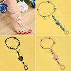 Fashion Turquoise Stone Beaded Anklet Women Barefoot Sandals Foot Chain Jewelry