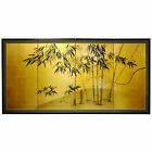 Oriental Furniture Gold Leaf Bamboo Wall Hanging