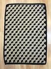 Antique Early 20thC, Optical Illusion, Cube Design, Navajo Western Wool Rug, NR