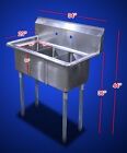 "New Commercial Restaurant 60"" 24"" S/S One Three Compartment Sinks Table-choose"