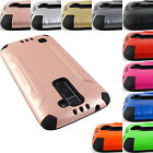 FOR LG K10 BRUSHED ARMOR CASE PROTECTIVE TPU SKIN HEAVY DUTY COVER+STYLUS