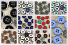 Dill Round 4 Hole Metal Jacket & Coat Buttons - per 2 buttons (Dill-34117...