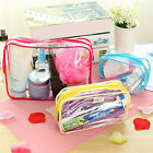 Clear Cosmetic Bag Wash Case Toiletry Organizer Travel Make Up Totes Waterproof