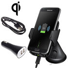 Qi Wireless Car Charger Holder Dock Kit Mount for Samsung Galaxy S7 /S7 edge New
