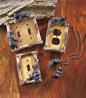 DECORATIVE RUSTIC CABIN LODGE BEAR THEMED LIGHT SWITCH OUTLET COVER HARDWARE