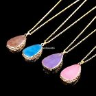 Women Vintage Jewelry Pendant Chain Crystal Choker Chunky Statement Bib Necklace