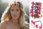 FLOWER Crown Hair Band Headband Boho Hippy Hippie Floral Bridal Girls 7 COLORS