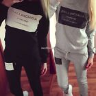 Women 2Pcs Letter Tracksuit Hoodies Sweatshirt Pants Sets Jogger Sport Wear Suit