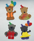Bear Themed Die Cuts x4: Baby, Birthdays, Wedding, Mother/Father Day Card Making