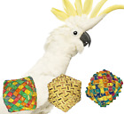 03315 Square Woven Foot Bird Toy Parrot Foraging Craft Part talon Cages Chewy