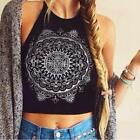 Hot Women Boho Sleeveless Crop Top Shirt Blouse Strappy Tank Vest Cami T-shirt S