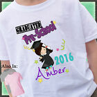 Girl Graduated PRE-SCHOOL Shirt Personalized Name Year Grad Shirt  PRESCHOOL