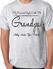 MY FAVORITE PEOPLE CALL ME GRANDPA ADULT SHIRT WITH NAMES FATHERS DAY