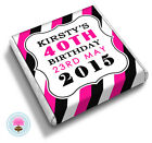 Personalised STRIPES 18th 21st 30th 40th 50th 60th Birthday Favour Chocolates